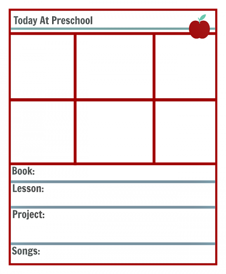 Free Printable Lesson Plan Template for Preschool