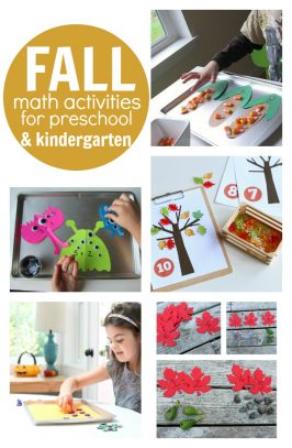 Fall Math Activities For Preschool and Kindergarten