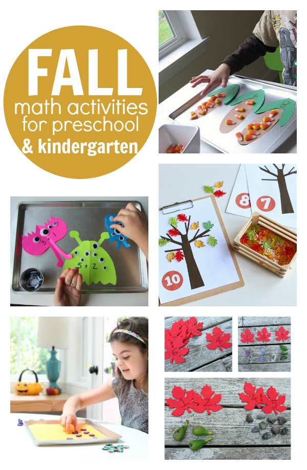 Fall Math Activities For Preschool And Kindergarten No Time For