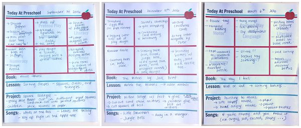 Preschool Lesson Planning Template Free Printables No Time For – Preschool Lesson Plan Template