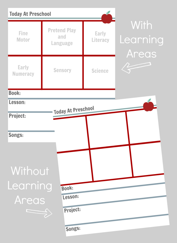 Preschool Lesson Planning Template Free Printables No 8473619
