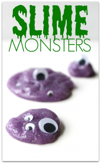 Halloween Sensory Play - Monster Slime