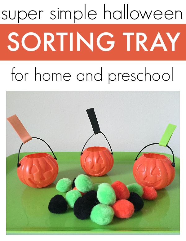 free choice sorting activity for preschool halloween free choice activity