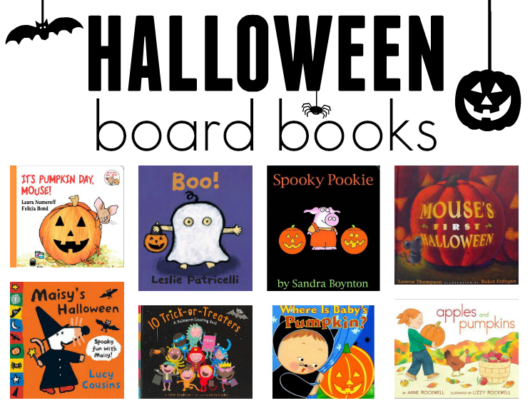 list of halloween board books for toddlers and preschoolers
