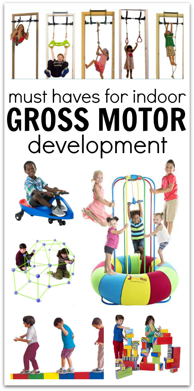 Toys and equipment for indoor gross motor development no for Indoor large motor activities for toddlers