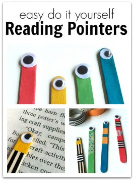 DIY Reading Pointers and Bookmarks