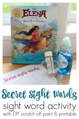 Scratch Off Secret Sight Word Activity and Free Printable