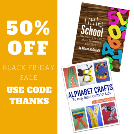Black Friday – preschool eBooks 50% off!