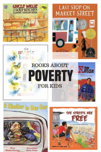 Picture books about poverty and picture books about homelessness for kids