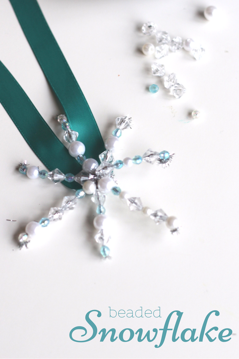 how to make a bead snowflakes no time for flash cards