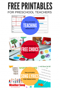 FREE PRINTABLES FOR PRESCHOOL - NO WORKSHEETS!