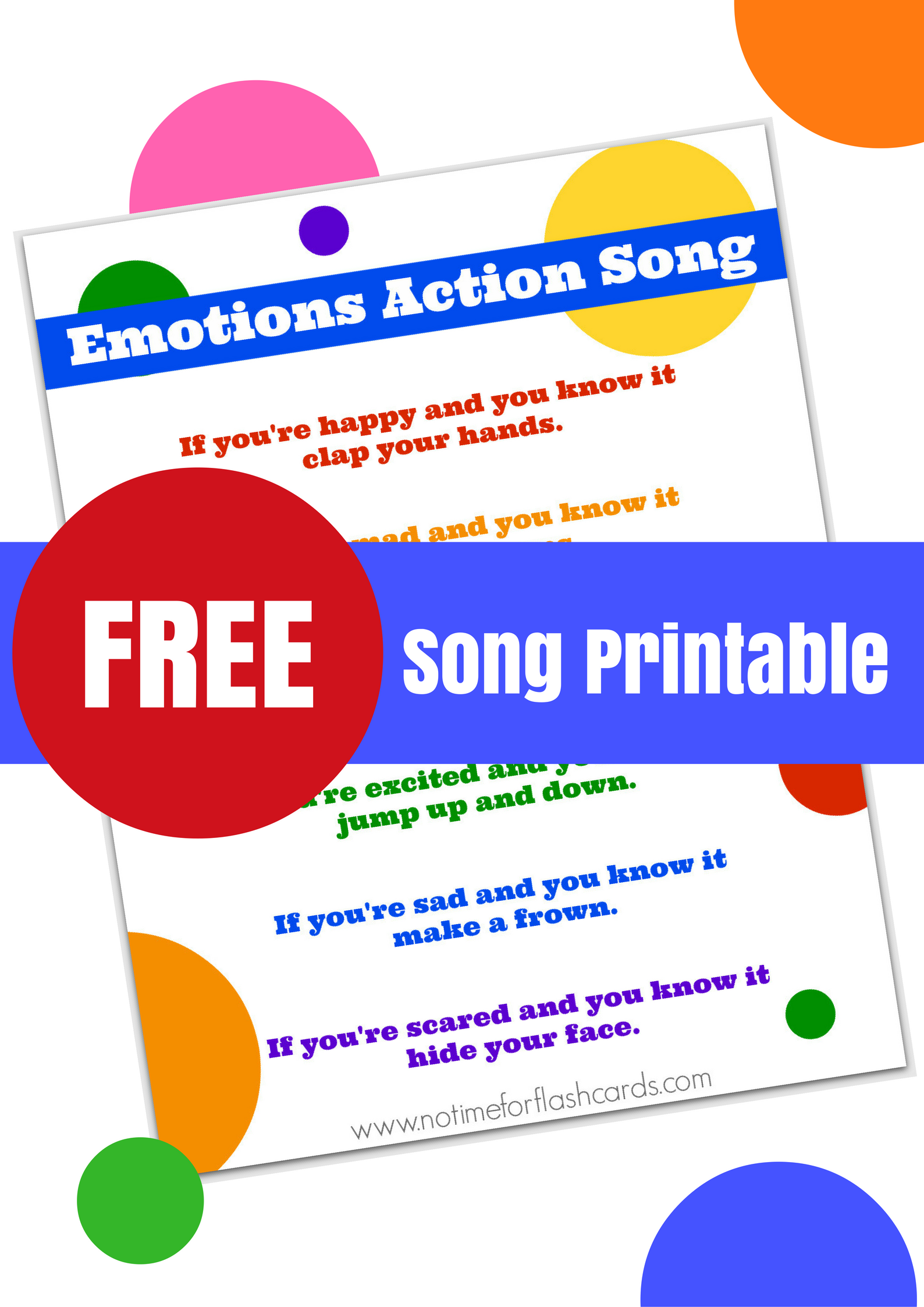 Emotions Song for Preschool with Free Lyrics Printable ...