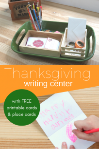 Writing center ideas for preschool