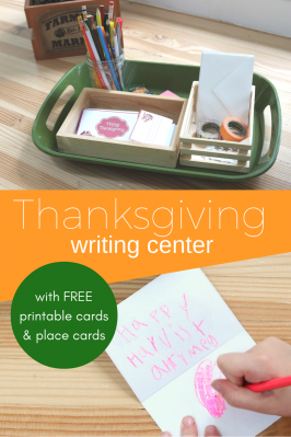 Thanksgiving Writing Center with Free Printables