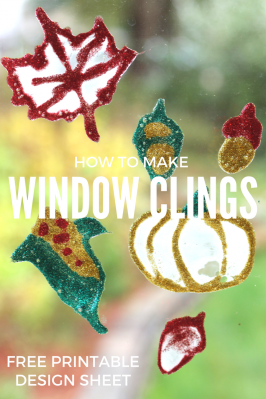 Last Minute Thanksgiving Craft – Window Clings