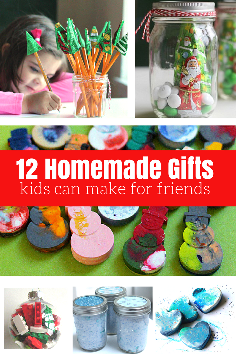 12 homemade gifts kids can help make for friends and Homemade christmas gifts