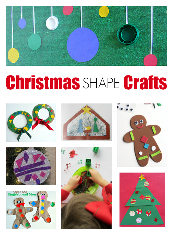 Christmas crafts, shape crafts for Christmas