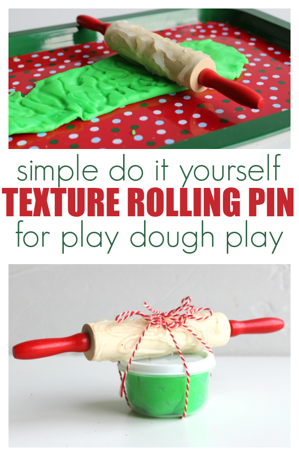 DIY Texture Rolling Pin for Play Dough - No Time For Flash Cards