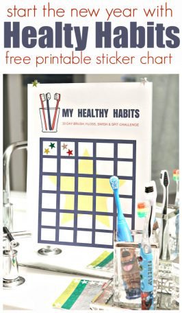 Healthy Habits Challenge and FREE Printable Sticker Chart
