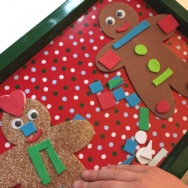 no glue gingerbread man craft