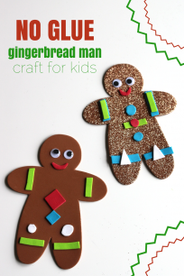 'No glue gingerbread man craft for preschool' from the web at 'https://www.notimeforflashcards.com/wp-content/uploads/2016/12/no-glue-gingerbread-man-craft-for-kids-204x306.png'