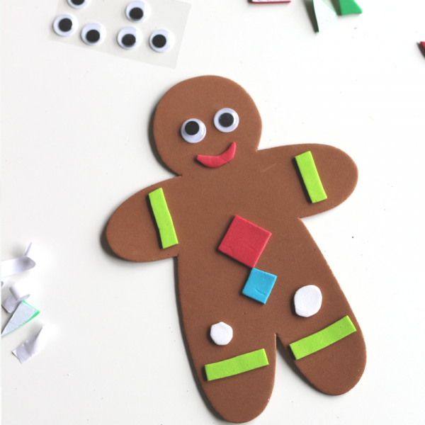 no-glue-gingerbread-man-craft-with-sticky-back-foam-no-glue-christmas-party-craft