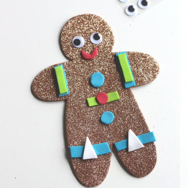 no-glue-glitter-gingerbread-man-craft-with-sticky-back-foam-no-glue-christmas-party-craft