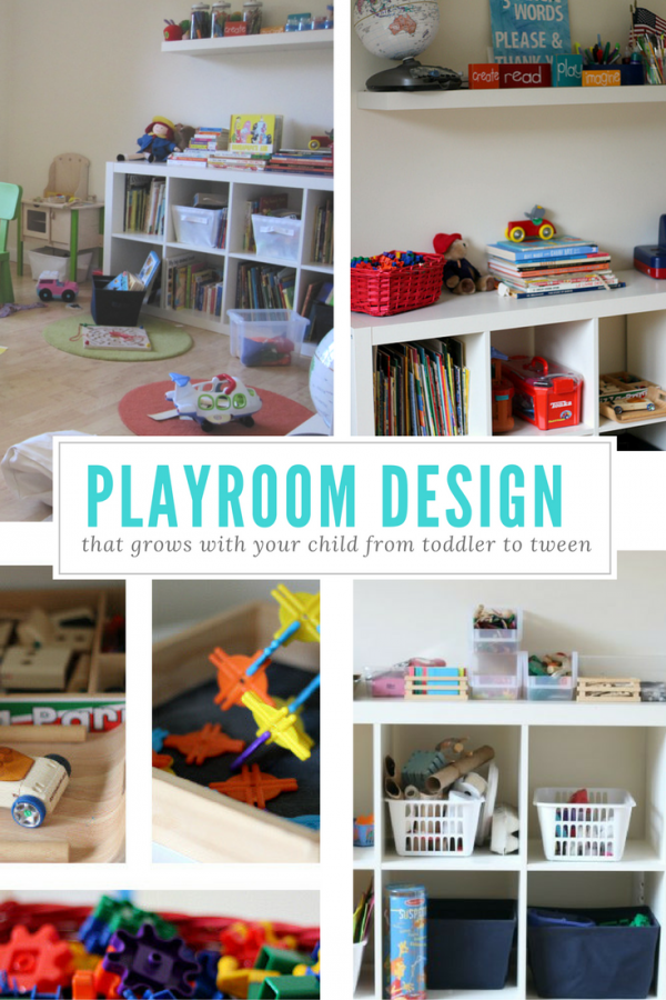 Playroom design and organization from toddler to tween