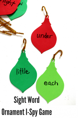 Sight Word Game – Practice Over Christmas Break ( but have fun doing it)