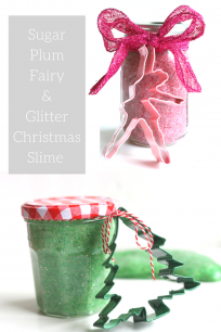'Christmas gifts kids can make - Christmas slime' from the web at 'https://www.notimeforflashcards.com/wp-content/uploads/2016/12/sugar-plum-fairy-slime-and-Christmas-slime-recipe-for-kids-204x306.png'