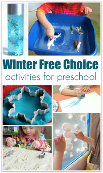 january lesson planning for preschool free choice activities with a winter theme