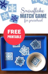 Snowflake Match Game - Free Printable