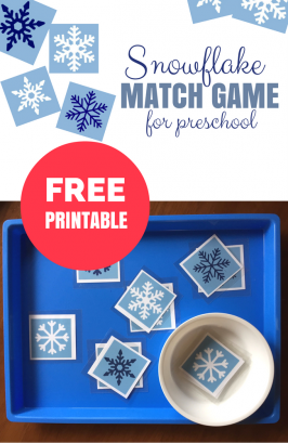 Free Printable Match Game for Winter