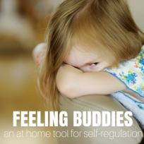 Feeling buddies an at home tool for children to learn self regulation and manage their emotions.