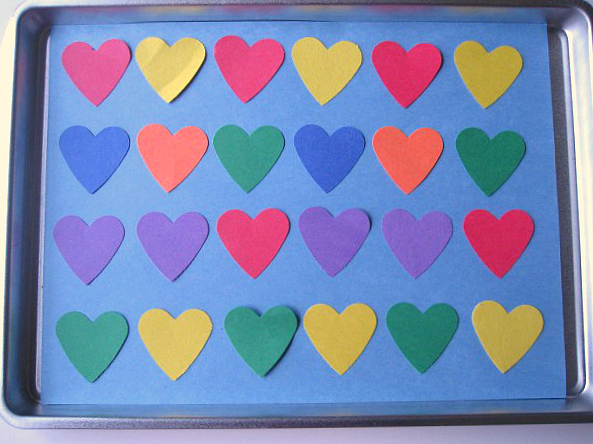 Heart patterns for valentine's day math centers