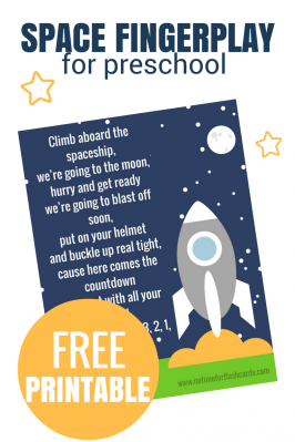 Space Fingerplay for Preschool – Free Printable