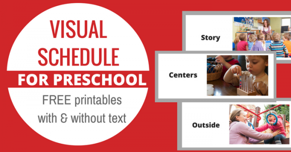 Free Printable Visual Schedule For Preschool - No Time For Flash Cards