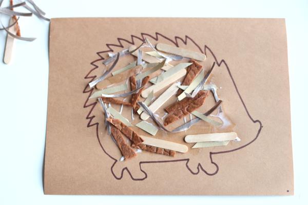 collage-hedgehog-craft