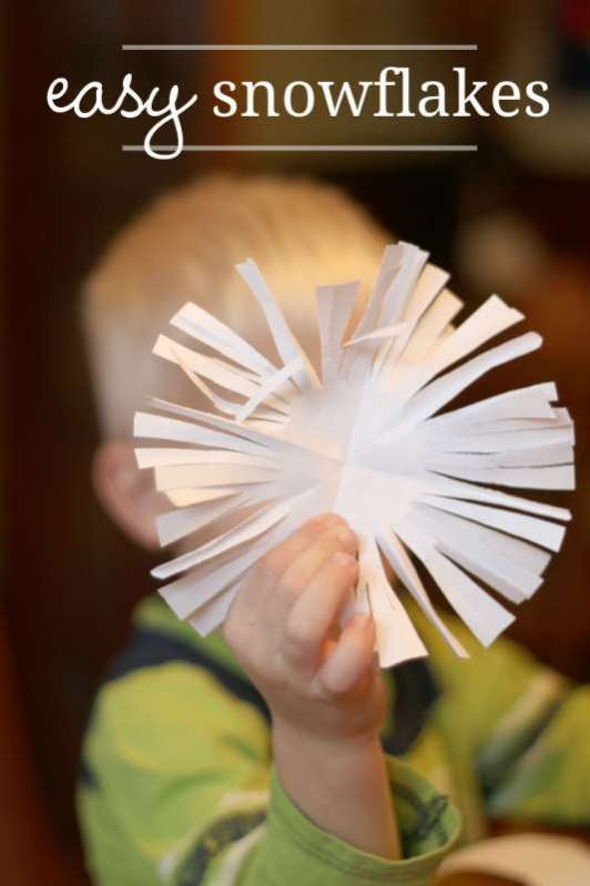 Snowflake Crafts For 2 And 3 Year Olds No Time For Flash Cards