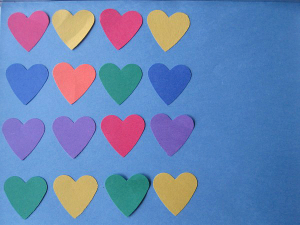 heart patterns for valentine's day math activity