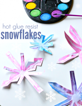 Hot Glue Resist Snowflake Craft