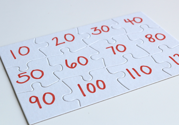 Skip Counting Puzzles - No Time For Flash Cards