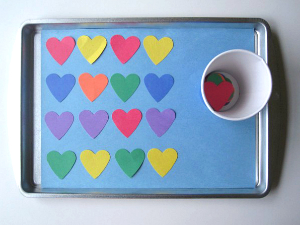 patterning with hearts