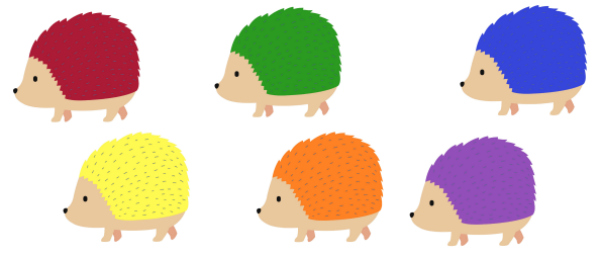 hedgehog printable for the hat circle time activity