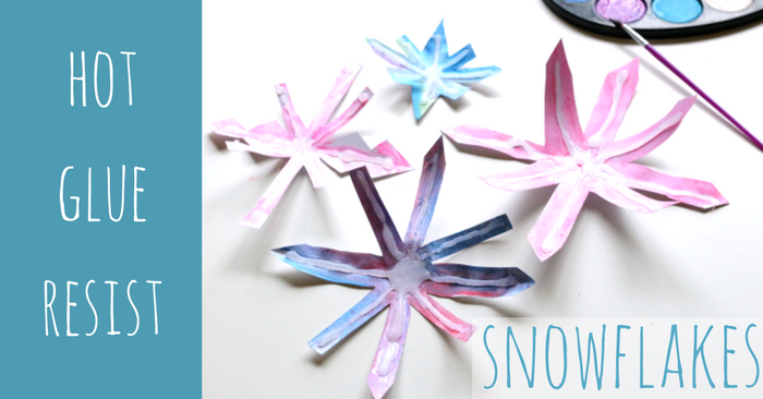 snowflake craft for kids from No Time For Flash Cards