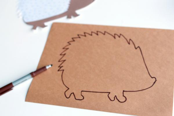stencil-for-hedgehog-craft