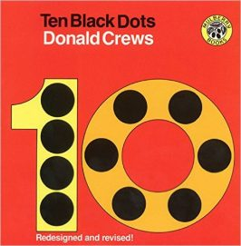 10 black dots counting books for preschool