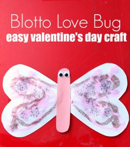 Blotto Love Bug – Easy Valentine's Day Craft