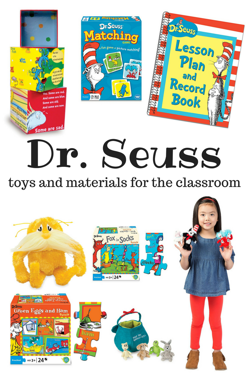 Dr. Seuss toys and materials for the classroom