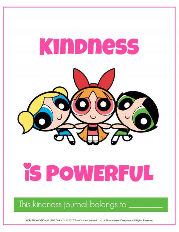 kindness journal powerpuff girls cover photo